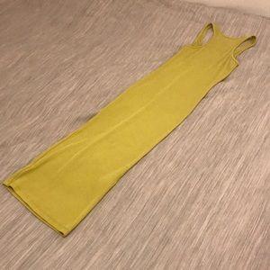 H&M Lime Green Bodycon Midi Dress